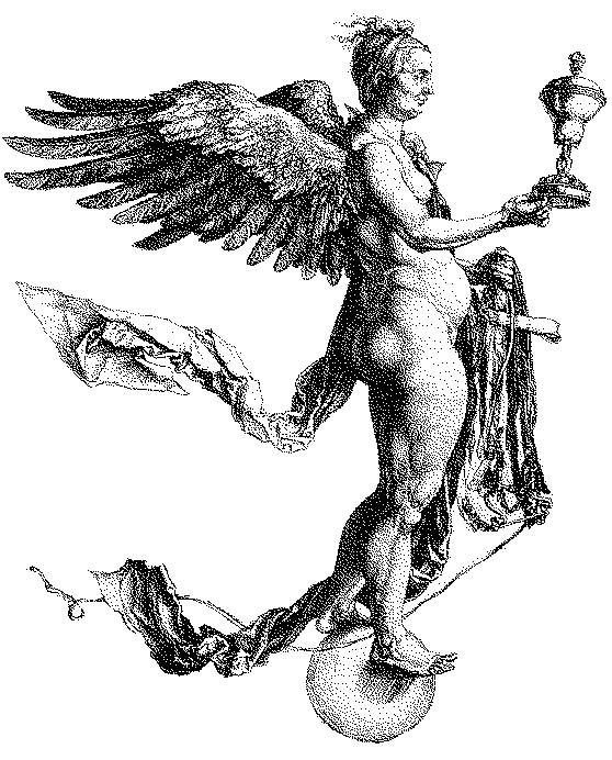 Némésis (dite la grande Fortune), gravure d'Albrecht Dürer